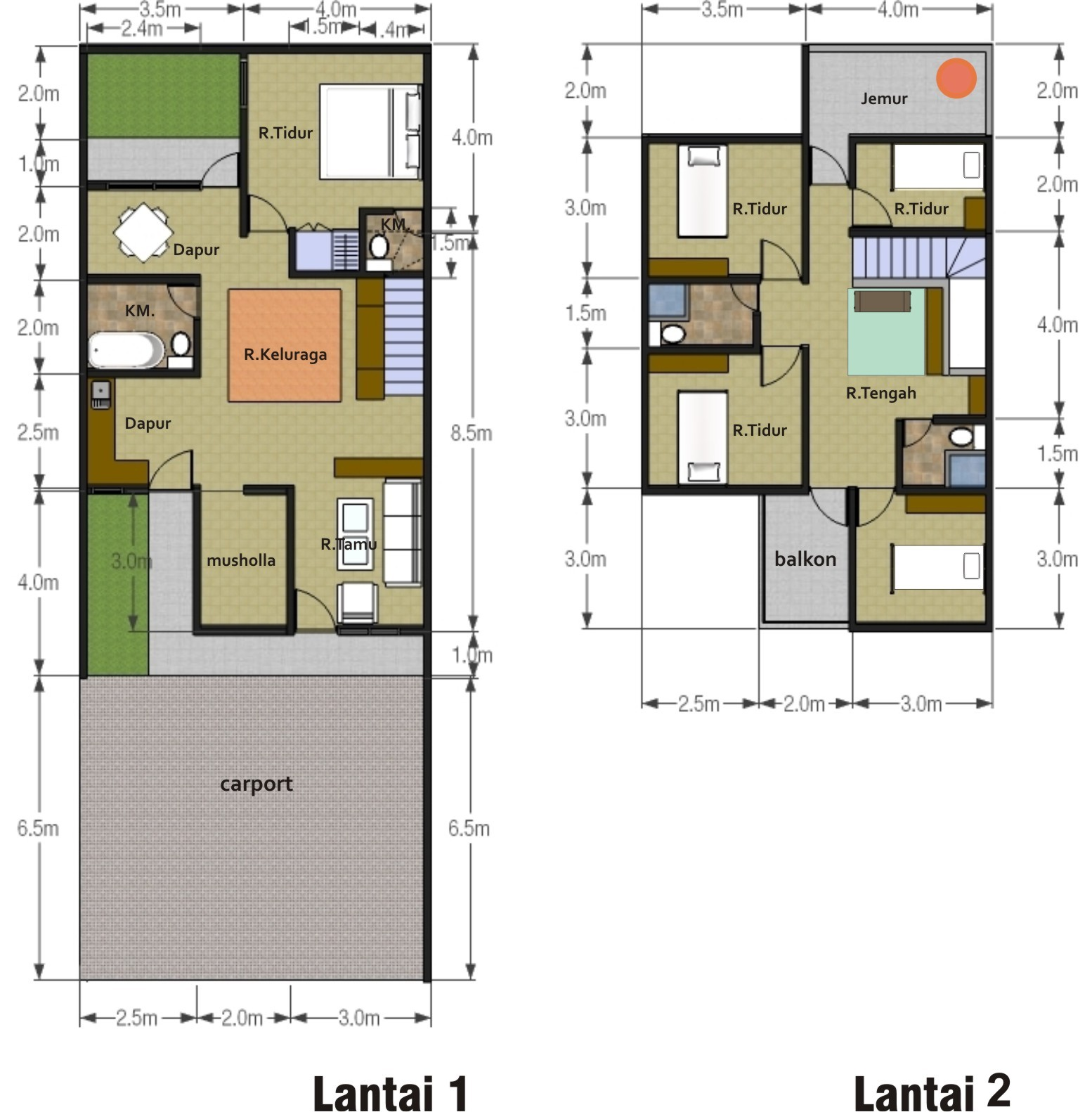 Desain Rumah Kontrakan 3 Petak Tukang Bangun Rumah